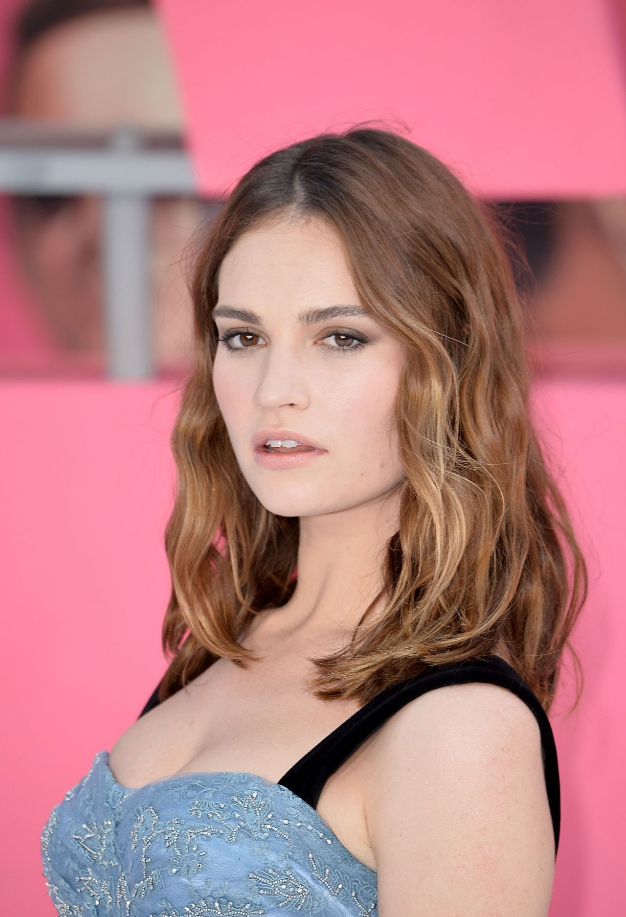 Lily James Quot Baby Driver Quot European Premiere In London Uk