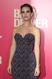 """Lily James - """"Baby Driver"""" Premiere in Los Angeles 06/14/2017"""