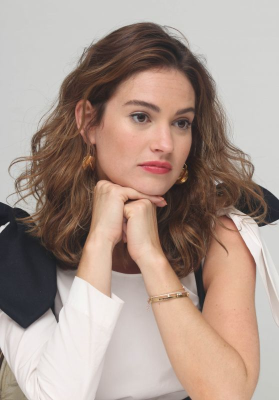 "Lily James - ""Baby Driver""Press Conference in Los Angeles 06/13/2017"
