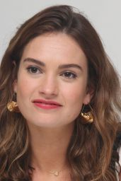 """Lily James - """"Baby Driver""""Press Conference in Los Angeles 06/13/2017"""