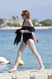Lindsay Lohan - Beach in Mykonos, Greece 06/29/2017