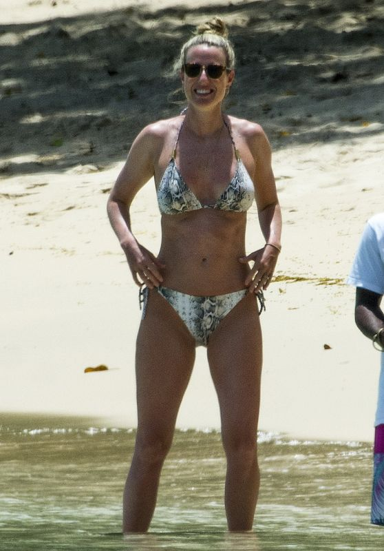 Lisa Carrick in Bikini on the Beach in Barbados 06/17/2017
