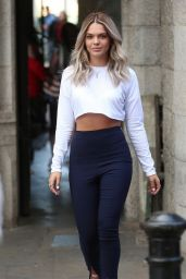 Louisa Johnson in a White Cropped Top - 500 Words Writing Competition in London 05/16/2017