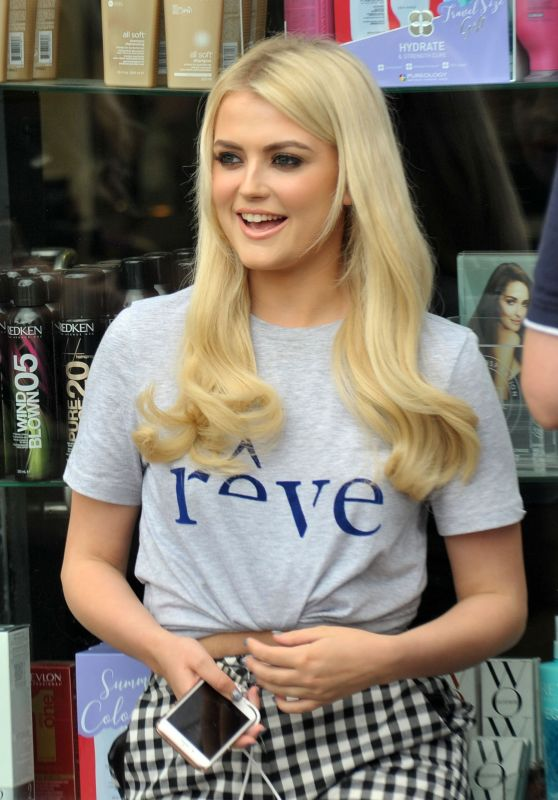 Lucy Fallon Cute Style - at Ceira Lamberts Hair Salon in Shankill Village, Dublin 06/17/2017
