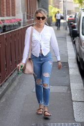 Lydia Bright in Ripped Jeans - Out in London 06/15/2017