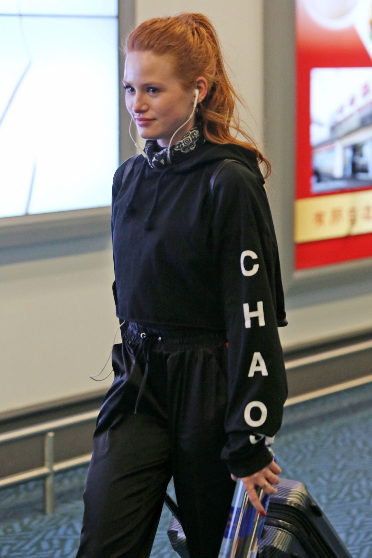 Madelaine Petsch In Travel Outfit Arriving In Vancouver