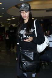 Madison Beer in Travel Outfit - LAX Airport in LA 06/07/2017
