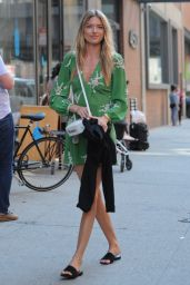Martha Hunt Cute Summer Street Style - Leaving Milk Studios in NYC 06/22/2017