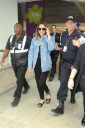Melanie Chisholm in Travel Outfit - Arriving in Rio de Janeiro, Brazil 06/19/2017