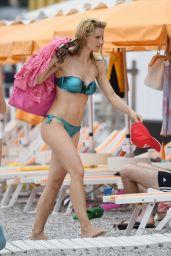 Michelle Hunziker Bikini Pics - Beach in Varigotti, Italy 06/22/2017