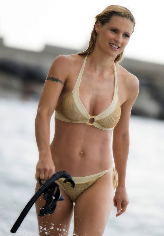 Michelle Hunziker in Bikini - Varigotti in Italy 06/22/2017