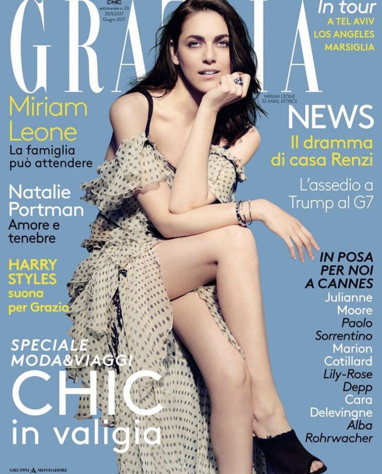 Miriam Leone - Grazia Magazine Italy June 2017 Cover