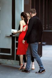 mmy Rossum - Enjoys Her Rehearsal Dinner in NYC, May 2017