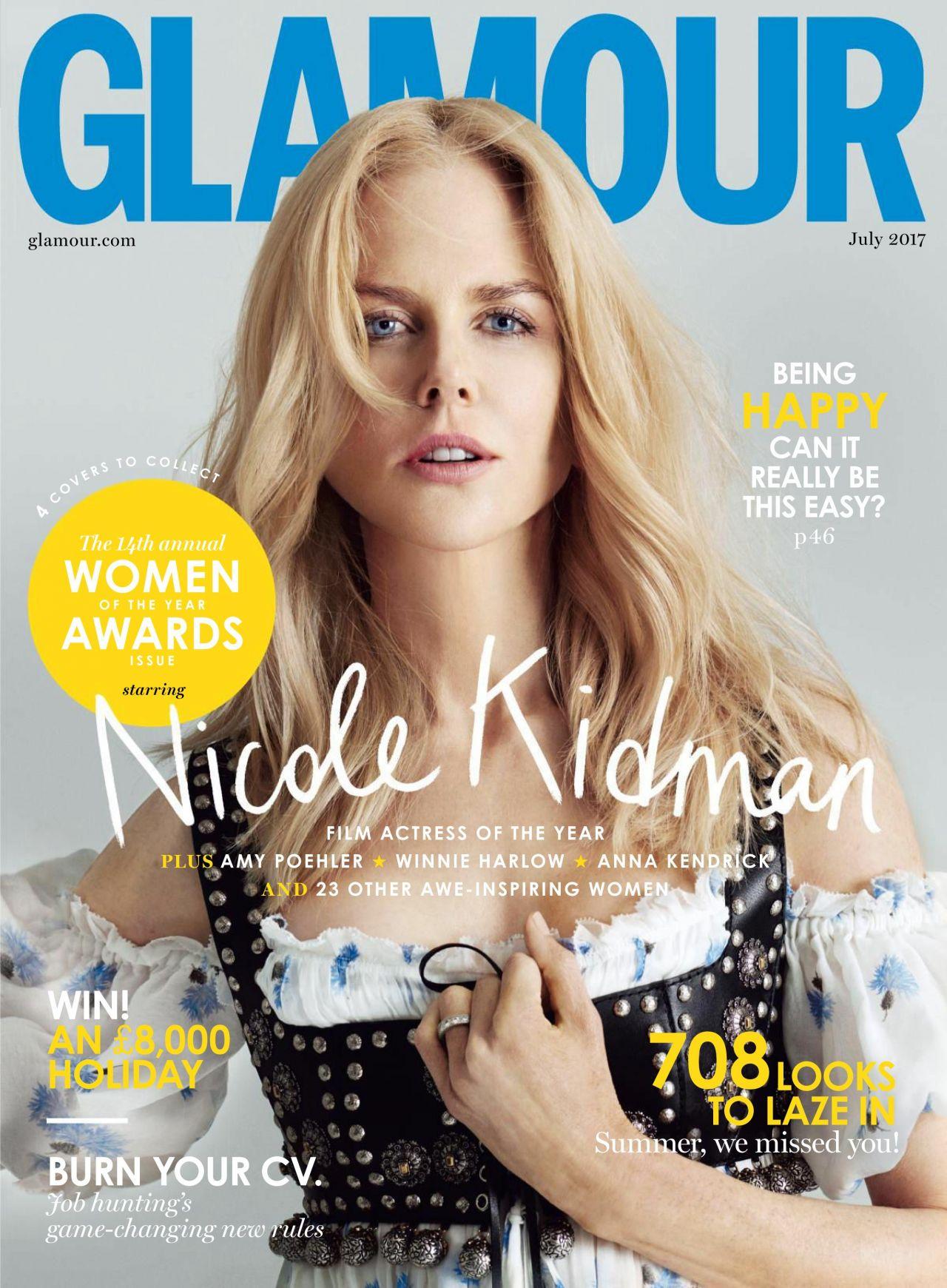 Magazine Cover Girls: Glamour Magazine UK July 2017 Issue