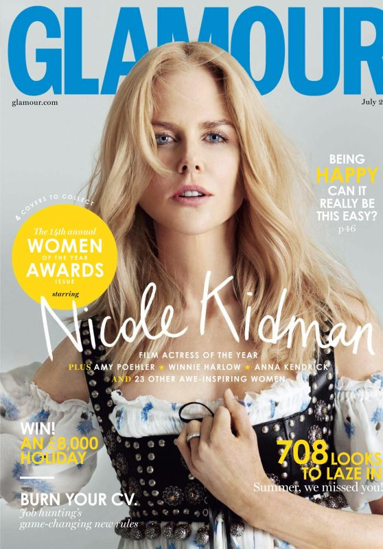 Nicole Kidman - Glamour Magazine UK July 2017 Issue