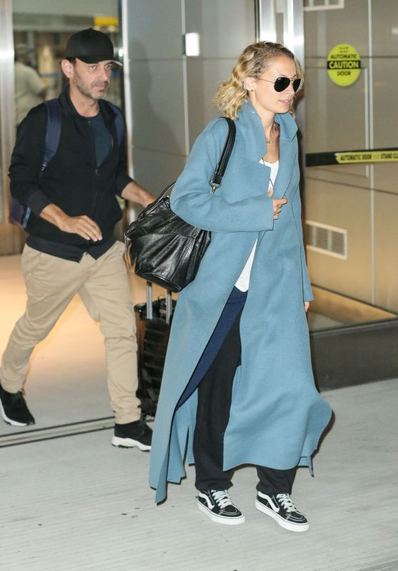 Nicole Richie in Travel Outfit - JFK Airport in NY 06/19/2017