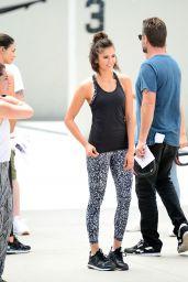 Nina Dobrev - Reebok Fitness Clothing Line Shooting a Video in Venice, CA 06/28/2017