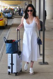 Olivia Munn in Travel Outfit - Washington DC Airport 06/14/2017