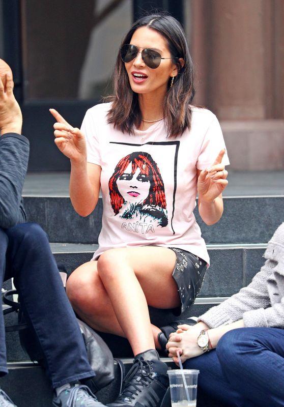 Olivia Munn Street Style - Out in Soho, New York 06/08/2017