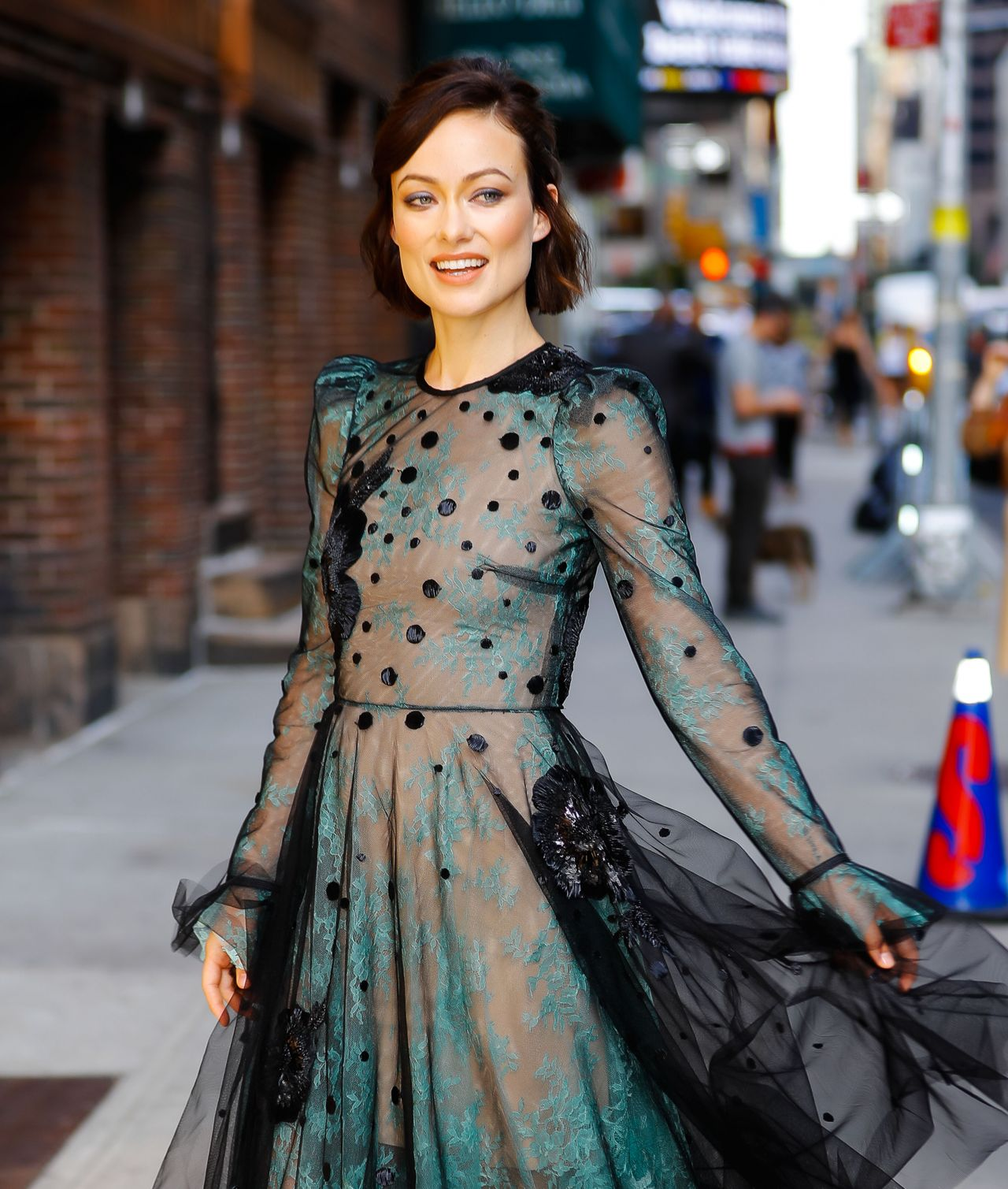 Olivia Wilde at The Late Show With Stephen Colbert in NYC ... Olivia Wilde