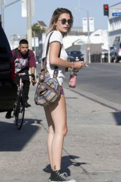 Paris Jackson Leggy in Shorts - Melrose Avenue in Los Angeles 06/17/2017