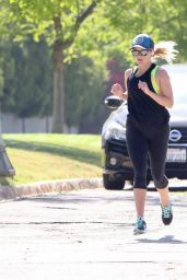 Reese Witherspoon - Jogging in Brentwood 06/15/2017