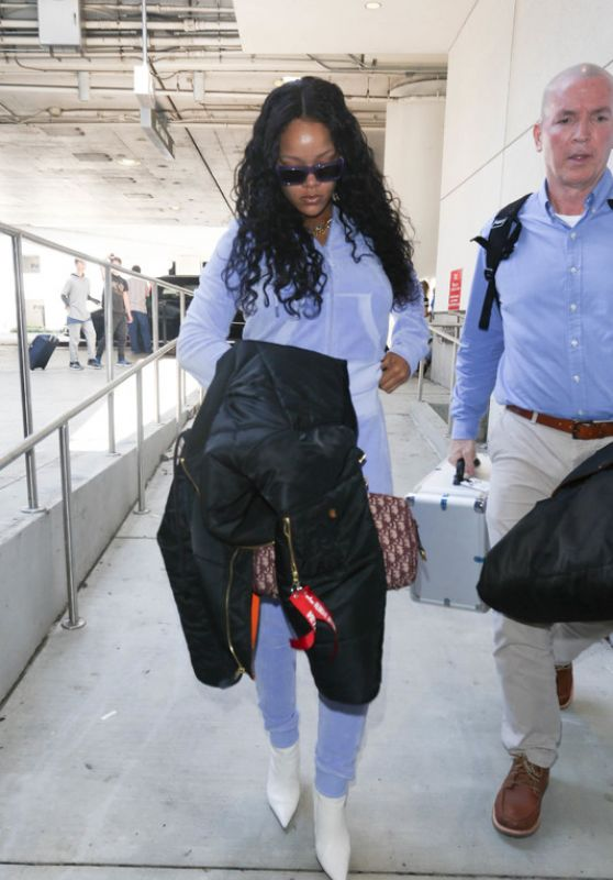 Rihanna in Travel Outfit - LAX in Los Angeles 06/24/2017