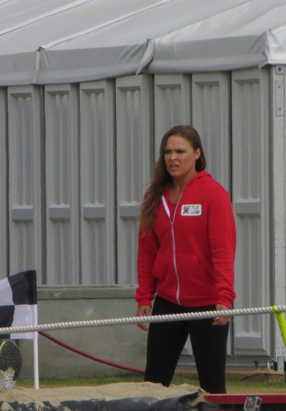 "Ronda Rousey - Filming ""Battle of the Network Stars"" TV Show in Malibu 06/04/2017"