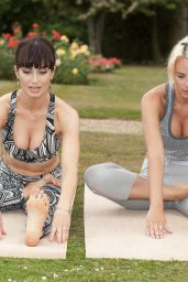 Roxy Shahidi and Rhian Sugden - Personal Yoga Training Session in Hertfordshire, UK 06/24/2017