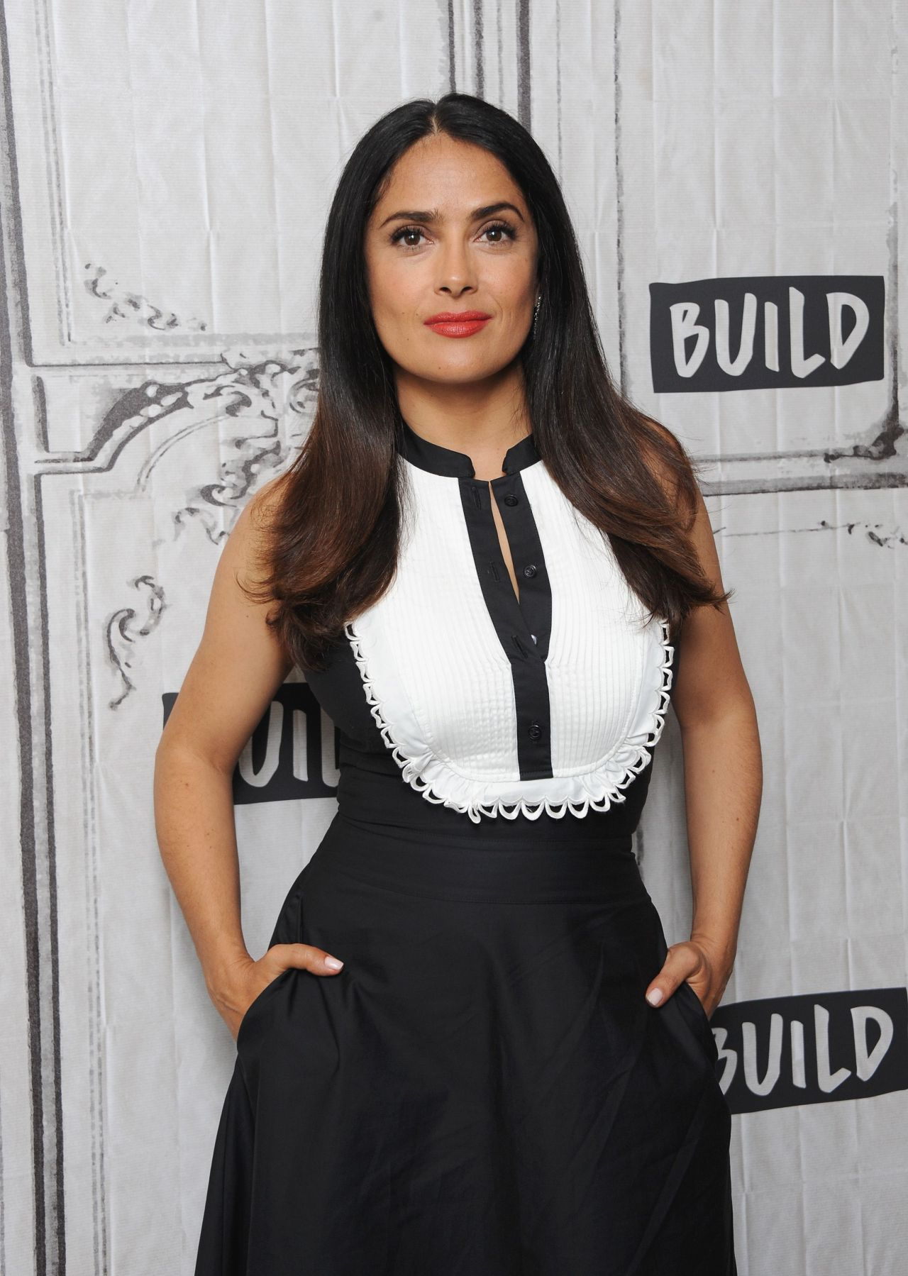"Salma Hayek at Build Discussing ""Beatriz At Dinner"" in NYC ... Salma Hayek"