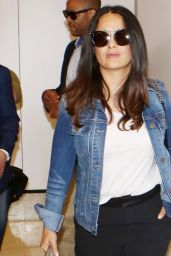 Salma Hayek at LAX in LA 06/15/2017
