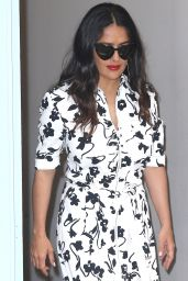 Salma Hayek Showing Off Her Trendy Style - Noho in New York 06/09/2017