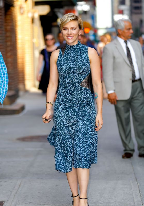 Scarlett Johansson - Leaves The Late Show With Stephen Colbert TV Show in NYC 06/13/2017