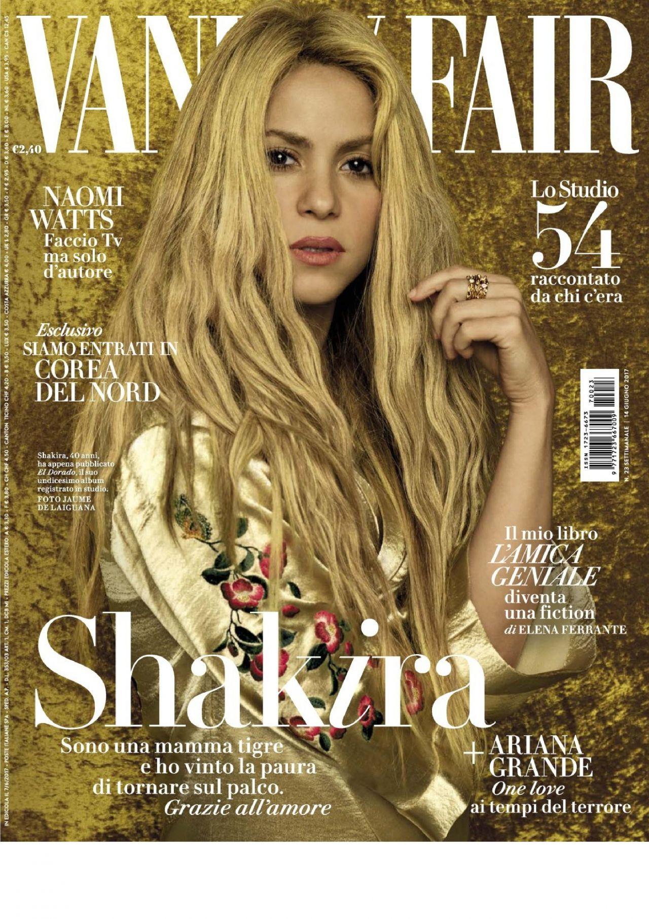 Shakira Vanity Fair Magazine Italia June 2017 Issue