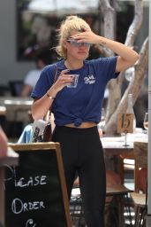 Sofia Richie Street Style - Zinque Cafe in West Hollywood 06/16/2017