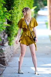 Suki Waterhouse in a Vintage Silk Romper - Los Angeles 06/17/2017