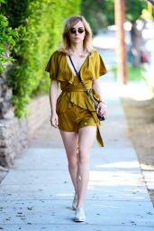 Suki Waterhouse in a Vintage Silk Romper - Los Angeles 06/17/2017