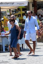 Sylvie Meis and Charbel Aouad on Holiday in Capri, Italy 06/24/2017