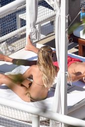 Sylvie Meis in a Bikini - Sunbathing on Island of Capri, Italy 06/21/2017