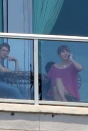 Taylor Swift Candids - Shows New Boyfriend Joe Alwyn the View Over Morning Coffee in Nashville 06/04/2017