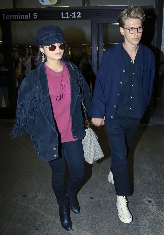 Vanessa Hudgens and Austin Butler - Arrive at LAX in LA 06/26/2017