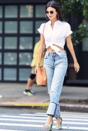 Victoria Justice Chic Street Style - Tribeca in NYC 06/21/2017