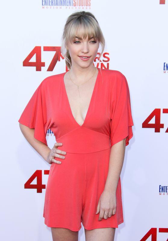 """Violett Beane - """"47 Meters Down"""" Premiere in Los Angeles 06/12/2017"""