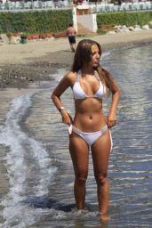 Yazmin Oukhellou in a White Bikini - Marbella, Spain, June 2017