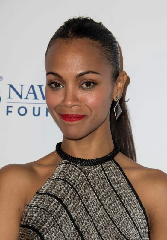 Zoe Saldana - LA Evening of Tribute Benefiting the Navy SEAL Foundation in Beverly Hills 06/01/2017