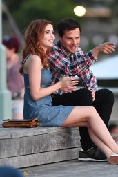 """Zoey Deutch - On the Set of """"Set it Up"""" in NYC 06/15/2017"""