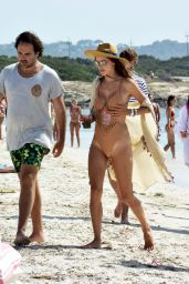 Alessandra Ambrosio in Swimsuit on the Beach in Ibiza 07/11/2017