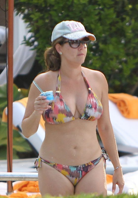 Alicia Machado (Miss Universe 1996) i a Two Piece Bikini - At Hotel Pool in Miami Beach 07/16/2017
