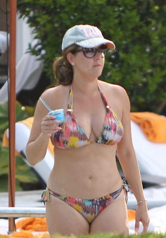 Alicia Machado (Miss Universe 1996) i a Two Piece Bikini - At Hotel Pool in Miami Beach 07/16/2017