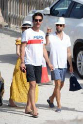 Alicia Vikander and Jon Kortajarena on the Beach in Ibiza 07/13/2017
